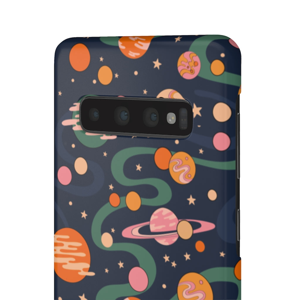 Cosmic Pattern Hard Snap on Phone Case Blue