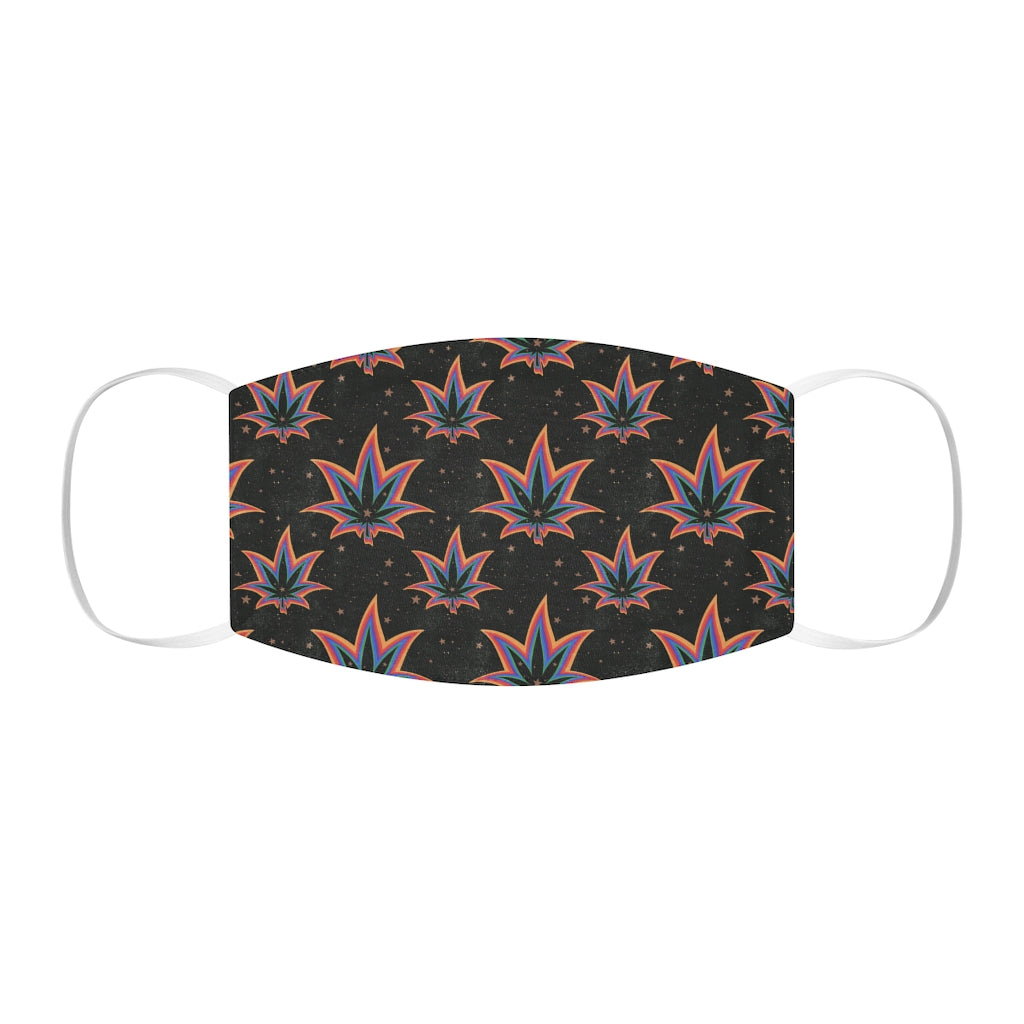 Rainbow Weed Snug-Fit Face Mask