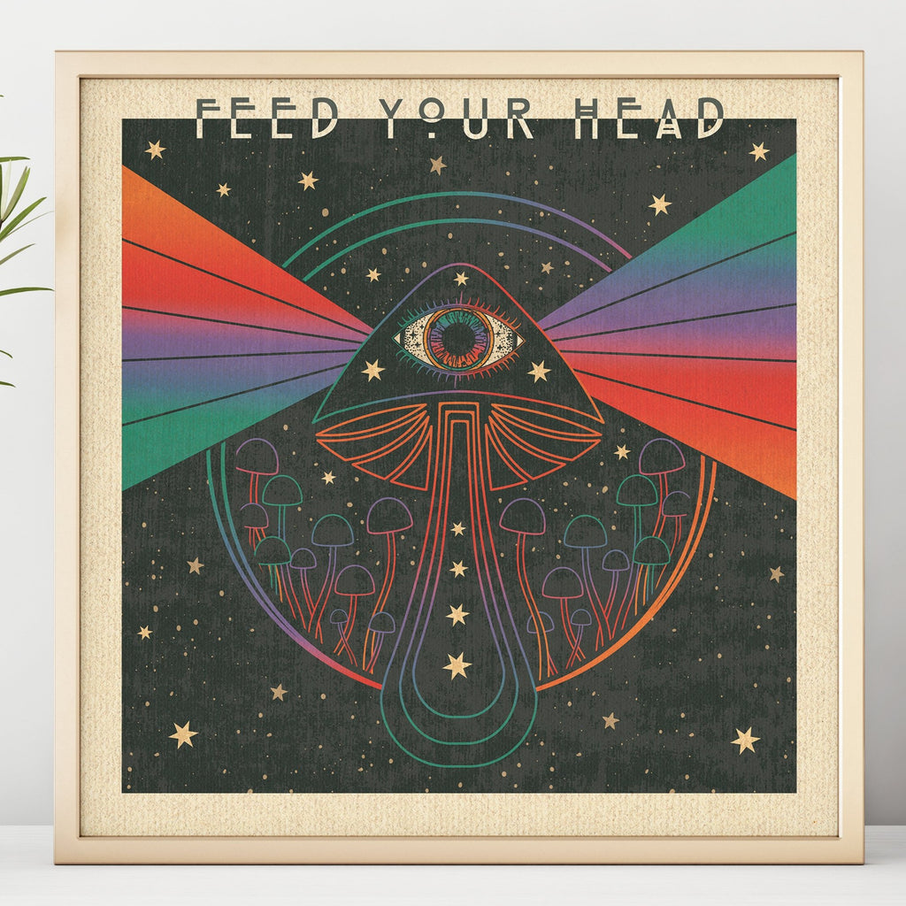 Feed Your Head - Square Print