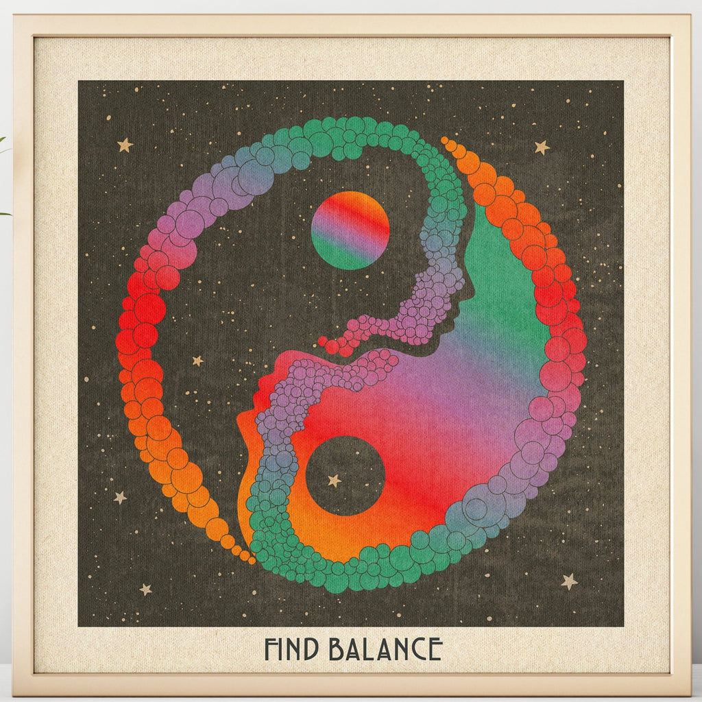 Find Balance - Yin and Yang - Print