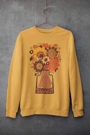 Gold Bloom Unisex Sweatshirt