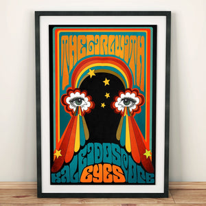 The Girl With Kaleidoscope Eyes Print