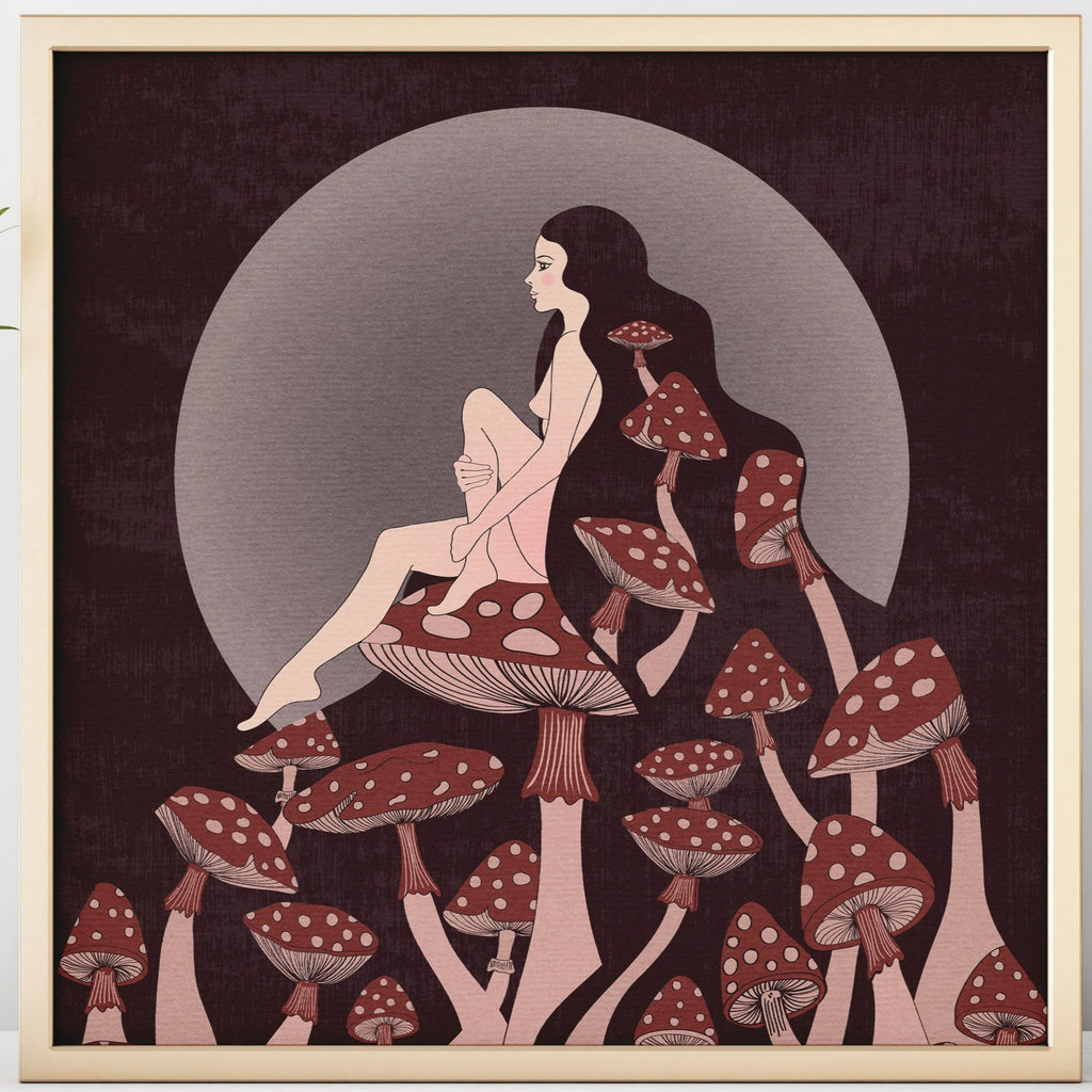The Mushroom Queen Print