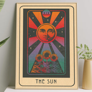 Inktally Tarot - Major Arcana - The Sun -Portrait Print