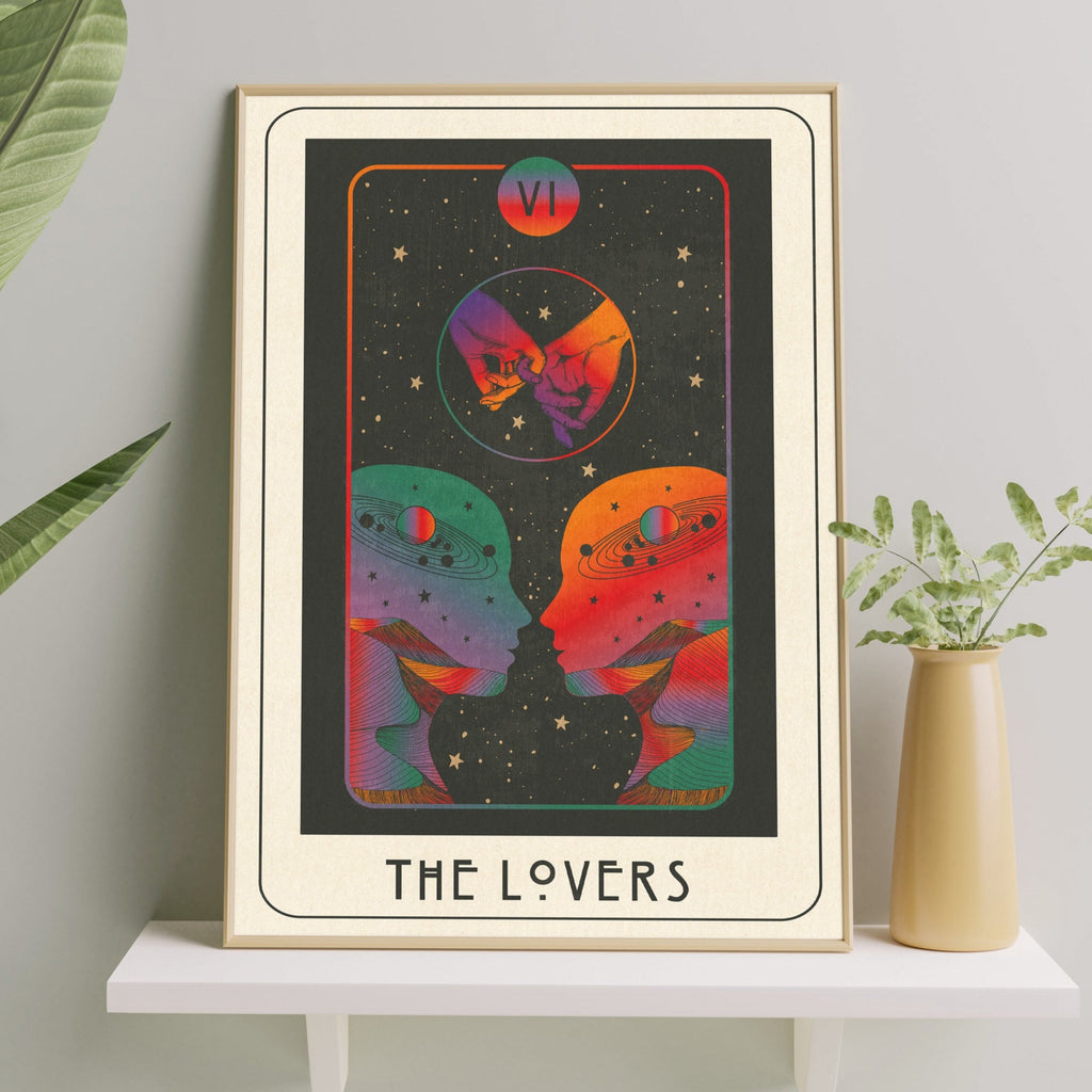 Inktally Major Arcana Tarot - The Lovers - Print