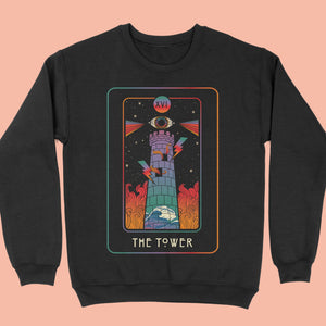 Inktally Tarot - The Tower - Sweatshirt