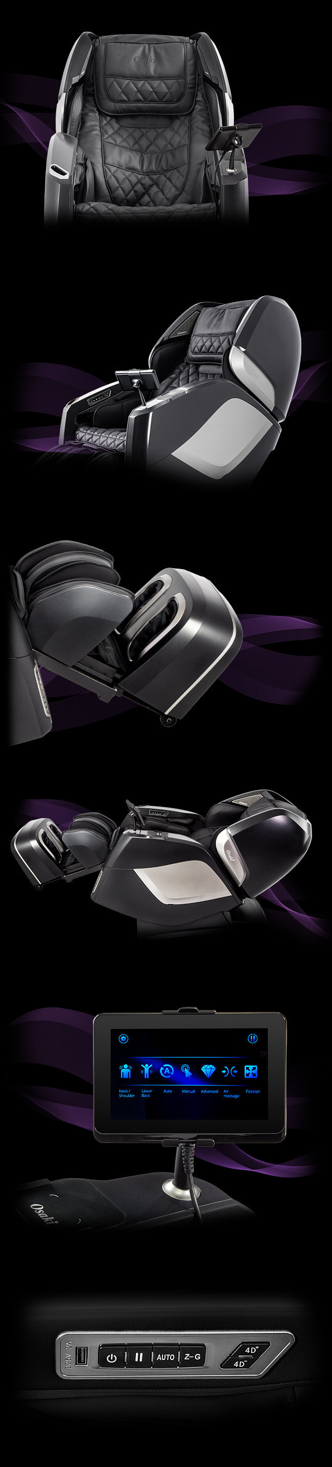 Image montage of Osaki Pro Maestro Limited Edition Chair Massager