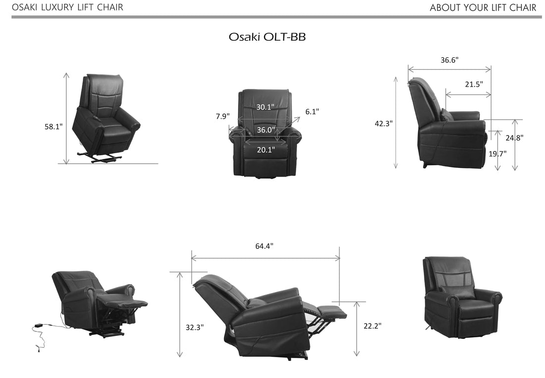 Image of chair dimensions