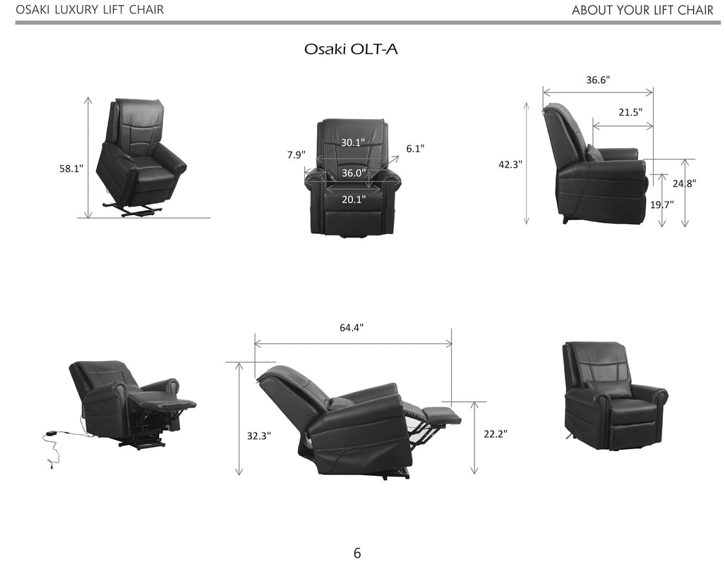 Image of chair size dimensions