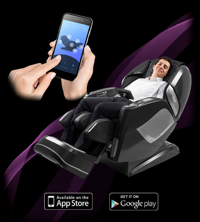 Image of mobile app being used with chair