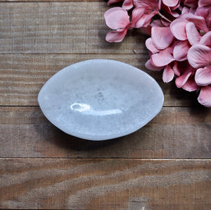 Oval Shaped Selenite Bowl