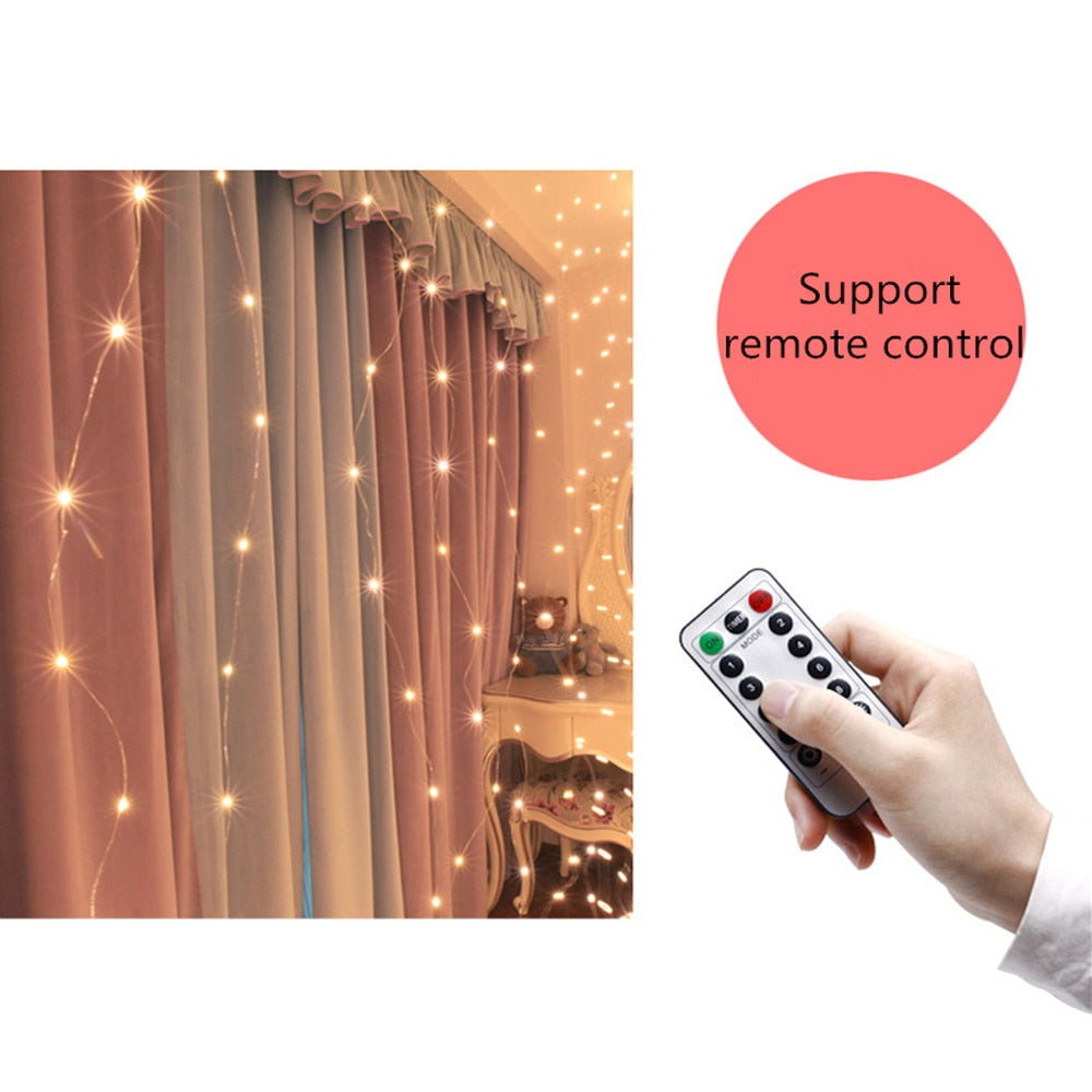 LED Curtain Fairy String Lights