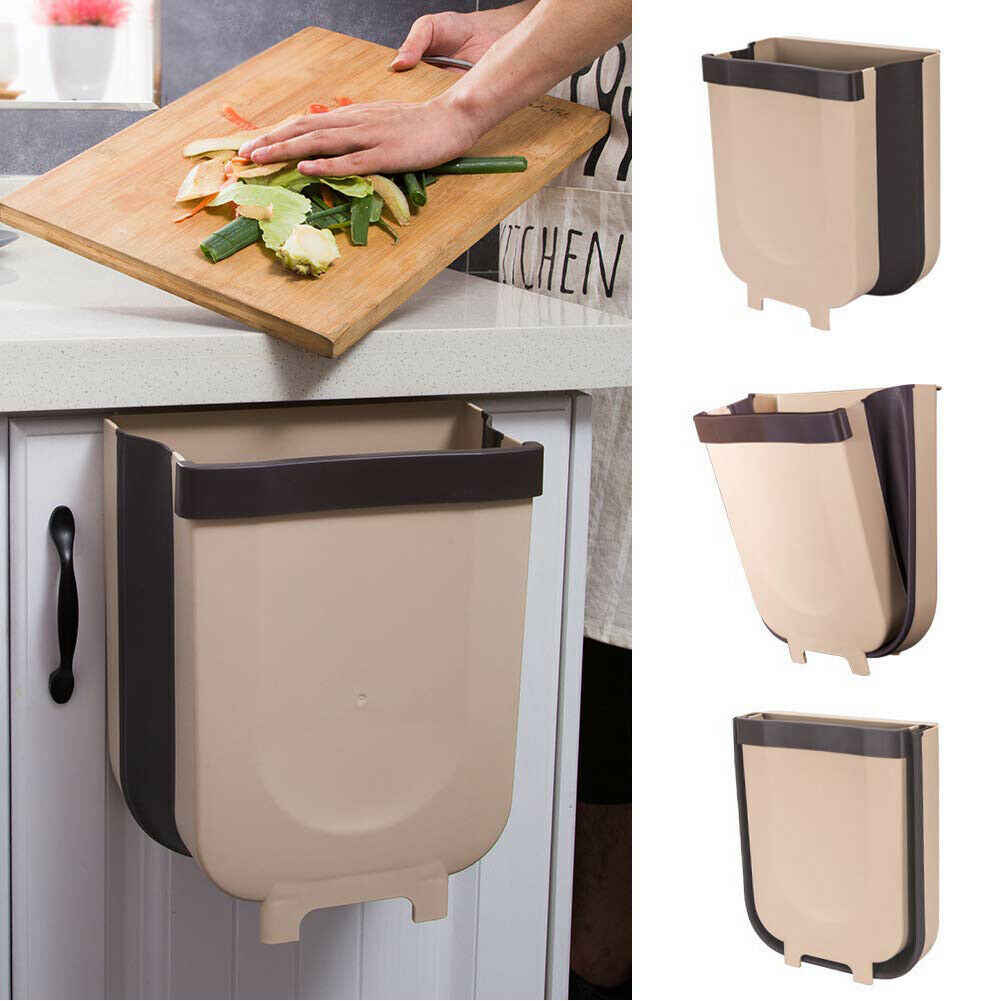 Foldable Wall-Mounted Hanging Garbage/Food Waste Bin | Sweet Home