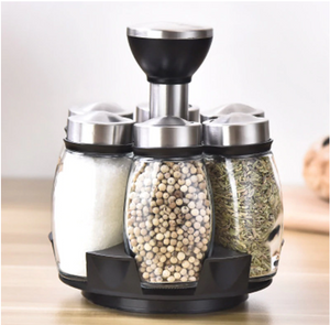 Rotating Spice Shaker Storage Rack | Sweet Home