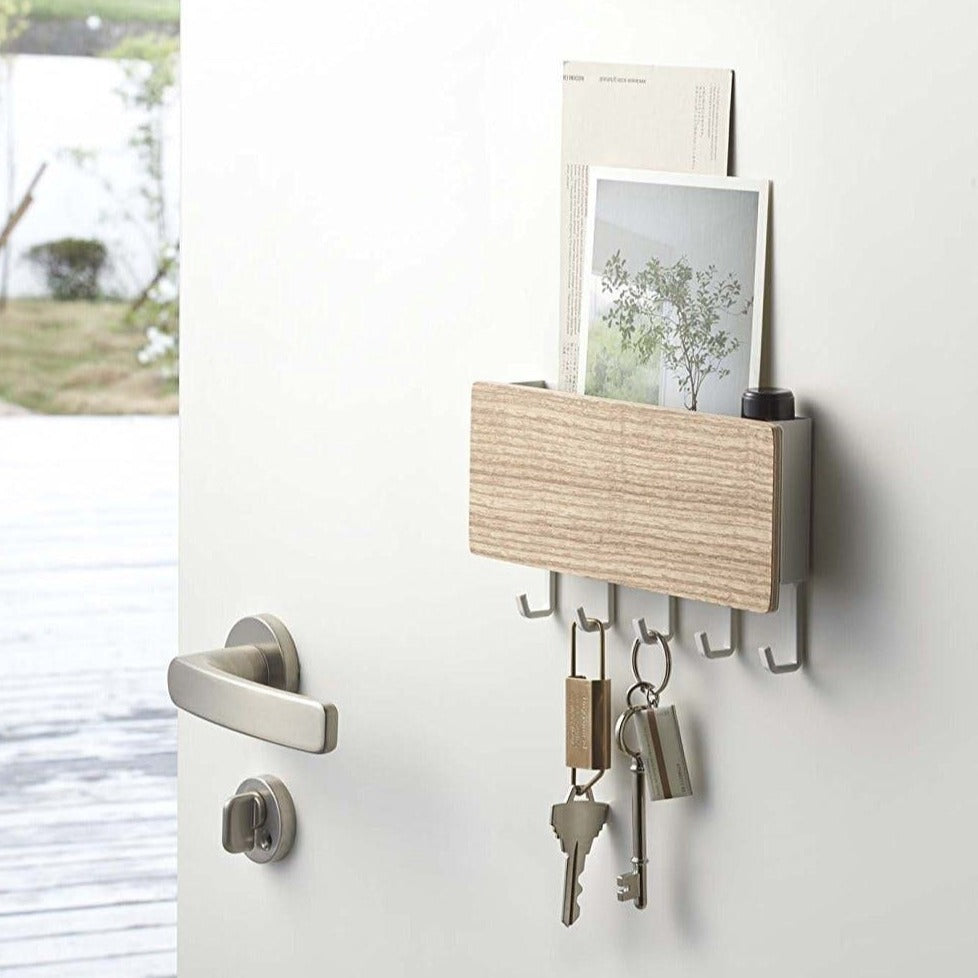 Wooden Key Holder Shelf Rack