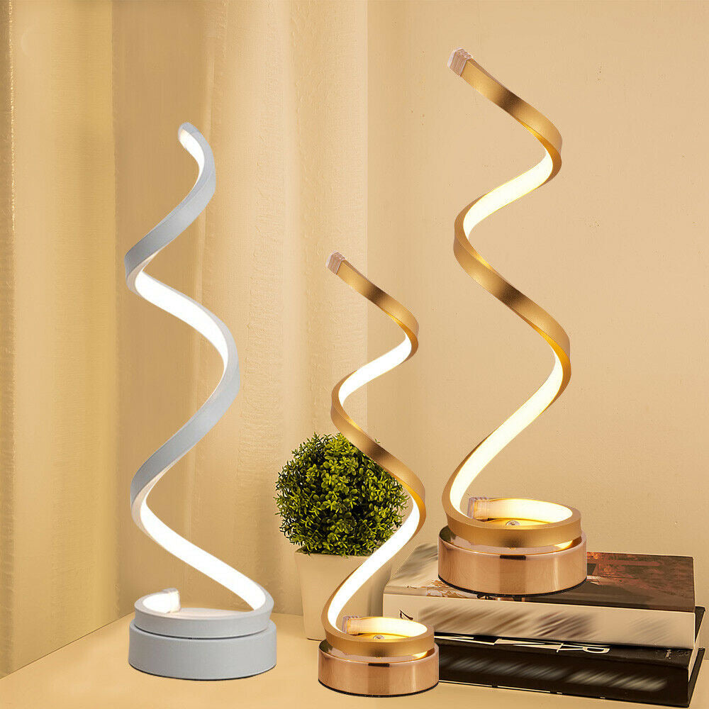 LED Spiral Light Lamp