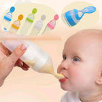 Silicone Baby Feeding Spoon + Squeeze Food Dispensing Bottle | Sweet Home
