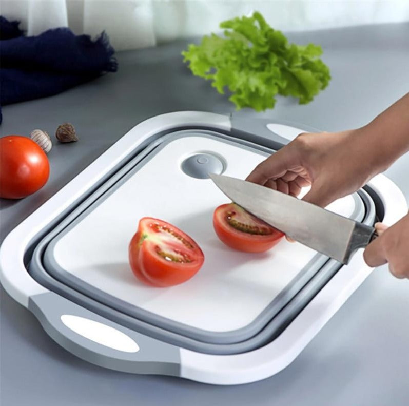 4-in-1 Folding Cutting Board + Collapsible Dish Tub | Sweet Home