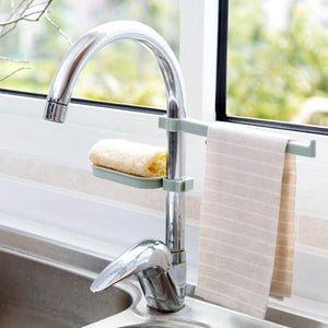 Sink Soap/Sponge Holder + Towel Hanging Rack | Sweet Home