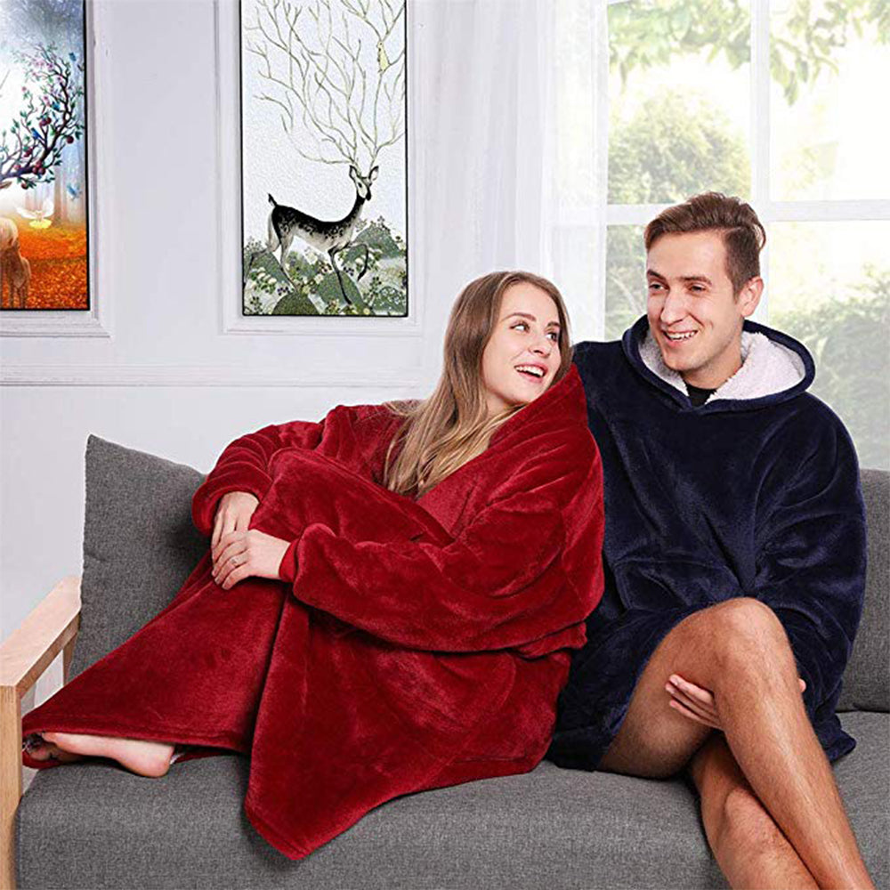 Ultra-Comfortable Fleece Sherpa Blanket Hoodie