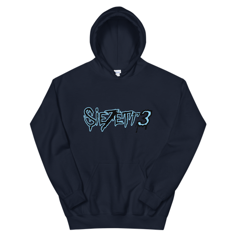 LABEL LOGO NAVY HOODIE + DIGITAL EP