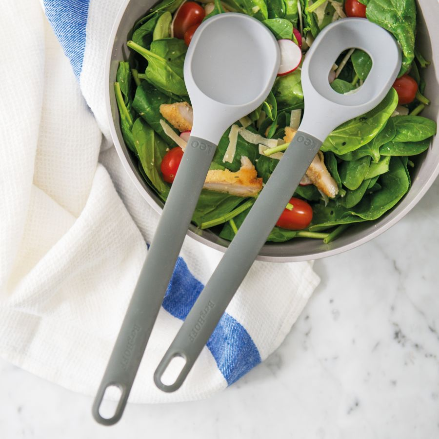 Salad servers set grey - Leo