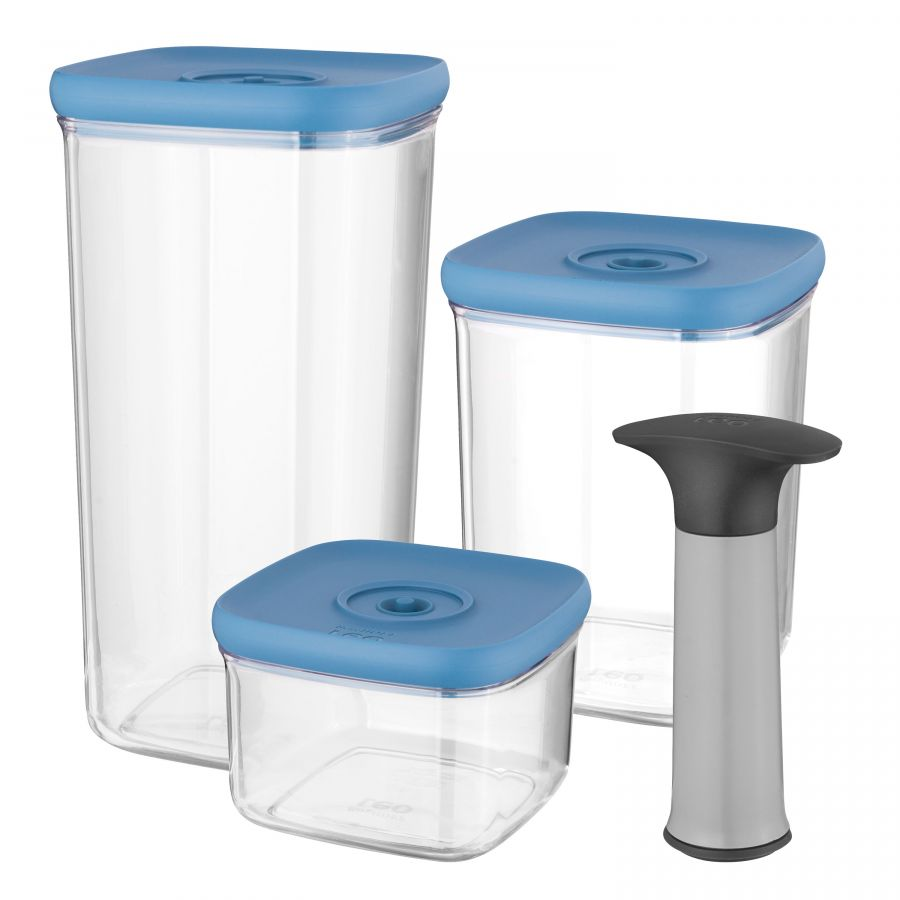 4-pc set vacuum food containers - Leo