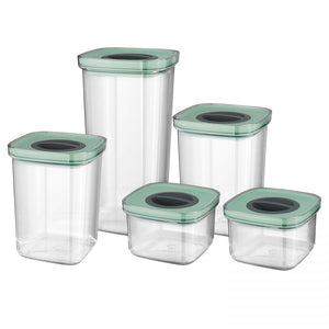 5-pc set smart seal food containers - Leo