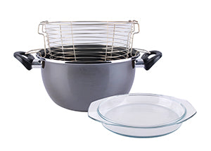 Deep fryer pot with cold touch handles and double non-stick layer ، Parma MAGEFESA.