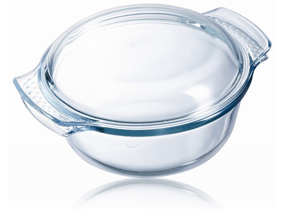Pyrex dining plate Round Tempered glass Transparent