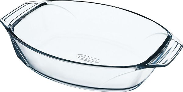 Pyrex Optimum Rectangle Roaster With Handle 31 Cm - Clear