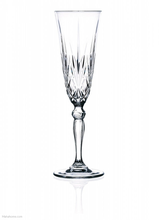 RCR Melodia Champagne Flute Glasses, Pack of 6