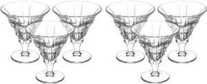 Bohemia Decorated Glass Ice-cream Cups Set, 6 Pieces
