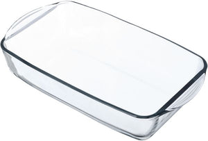 Pasabahce Glass Borcam Rectangular Platter with Handle