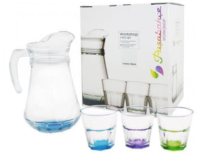 GLASS CUPS SETS +JAR