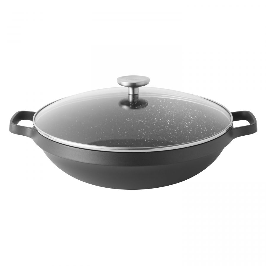 Covered Chinese wok 32 cm - Gem