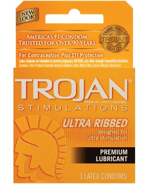 5302 - Condoms, Trojan Ultra Ribbed - 3 Pack