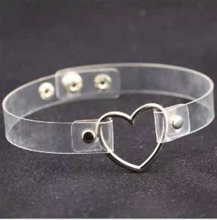 44240 - Choker, Heart (Clear)