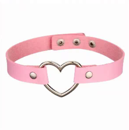 44246 - Choker, Heart (Light Pink)