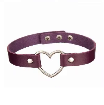 20212 - Choker, Heart (Purple)