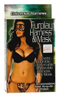 51232 - Fur Play Strap-on Harness and Mask (Tiger Brown)