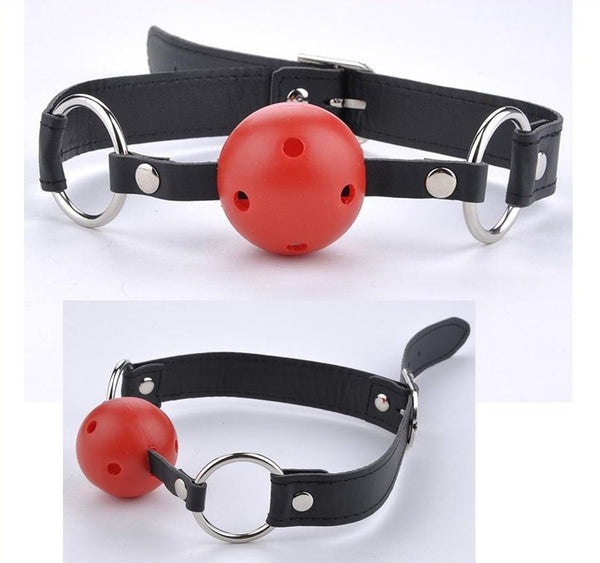 20187 - Gag, Breathable (Black/Red)