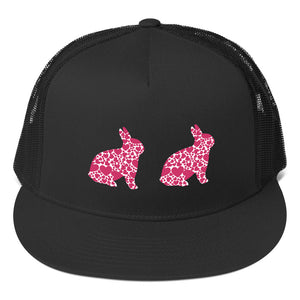 Two Pink Bunnies Trucker Cap