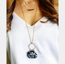 Load image into Gallery viewer, Tiny Gemstone & 14k gold chain necklace Layering necklaces Gemstone necklace - Shay D. Design