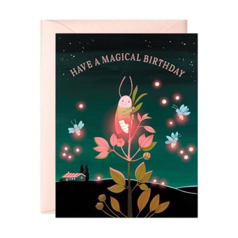 JooJoo Firefly Birthday Greeting Card