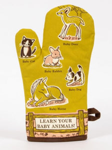 Blue Q Learn Your Baby Animals Oven Mitt