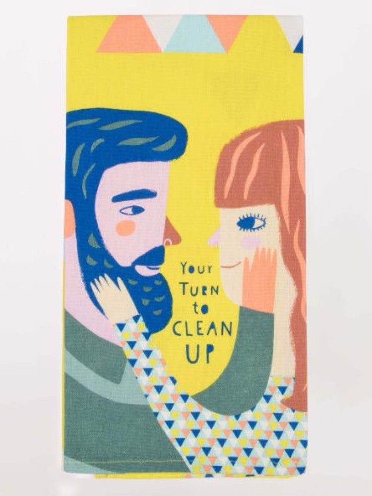 Blue Q Your Turn To Clean Up Screen Print Tea Towel