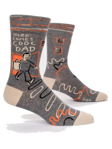 Blue Q Here Comes Cool Dad Men's Socks