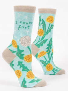 Blue Q I Never Fart Women's Crew Socks