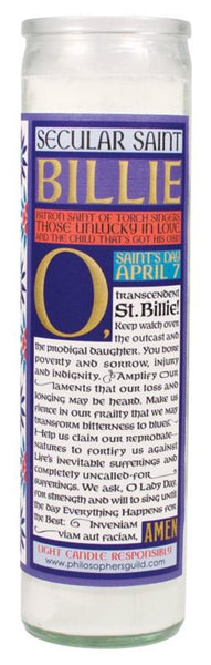 Unemployed Philosopher's Guild Billie Holiday Secular Candle